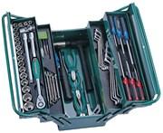 """Универсальный набор (инструментальный ящик) Торцевых головок 1/2""""DR 10-32 мм, Ключей 6-22 мм, Угловых ключей 1,5-10 мм, и Отверток, 66 предметов"""