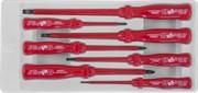 Набор отверток диэлектрических SL0,4х2,5х85-1,2х6,5х150 и PH #0-2, 7 предметов