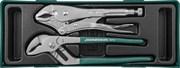Набор инструмента, переставные клещи и ручные тиски, 2 предмета (ложемент)