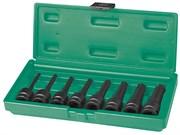 """Набор ударных головок Torx 1/2DR"""", Т30 - T80, 78 мм, 8 предметов"""
