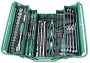 """C-3DH262 Универсальный набор (инструментальный ящик) торцевых головок 1/2""""DR 10-32 мм, ключей 6-22 мм, угловых ключей 1,5-10мм, и отверток, 62 предмета"""