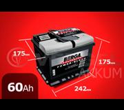 Aккумулятор BERGA Power Block 60А/ч обратная полярность, низкий